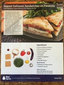Seared Halloumi sandwiches on Focaccia feature image Semper Sarah Blue Apron